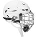 Bauer RE-AKT 95 Hockey Cascos Combo blanco with verja