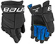 Bauer X guantes intermedio negro-blanco