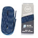 Laces waxed blue