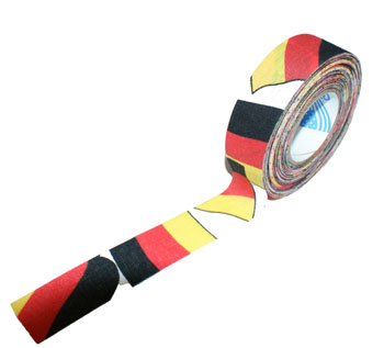Andover Sticktape 24mm x 18m black red gold