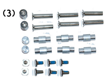 Axis for Skates / Screws Set of 8 incl. Spacer