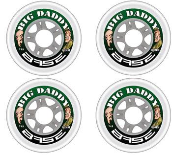 Base Big Daddy Indoor Ruedas 4pc Set CLEAR 74A