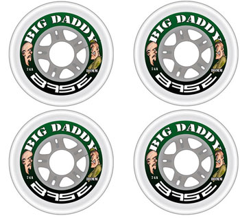 Base Big Daddy Indoor Wheels 4pc Set CLEAR 74A