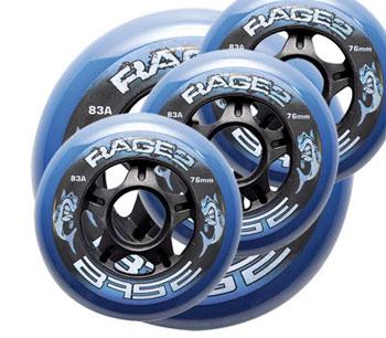 Base Rage.2 Hockey Outdoor Rueda Set of 4 clear 83A