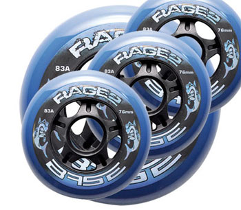Base Rage.2 Hockey Outdoor Wheel Set of 4 clear 83A