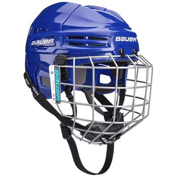 Bauer IMS 5.0 hjälmkombo (inkl bur) blå