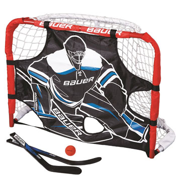 """Bauer knee hockey goal 30.5"""" Stick and a ball and shooter"""