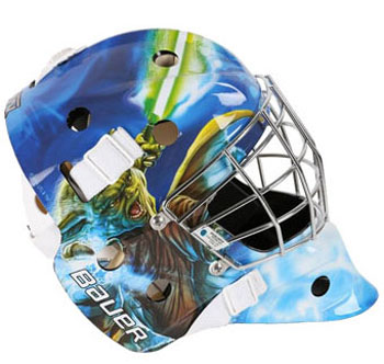 Bauer NME 3 Star Wars Decal Goal Mask Youth Yoda