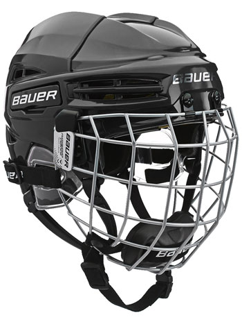 Bauer RE-AKT 100 Youth Cascos Combo incl. Cage negro