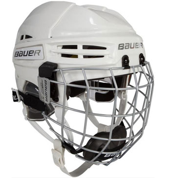 Bauer RE-AKT 100 Youth Helmet Combo incl. Cage white