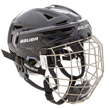 Bauer RE-AKT 150 Hockey Helmet Combo with cage black