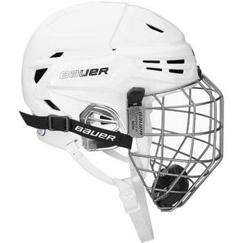 Bauer RE-AKT 95 casco Combo bianco compreso griglia