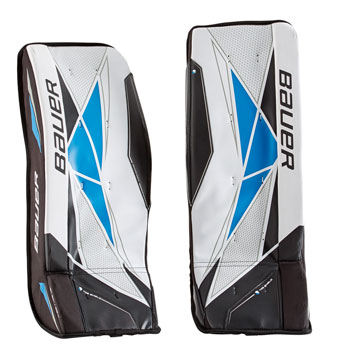 Bauer Street Goalie Leg Pad Senior white-black-blue