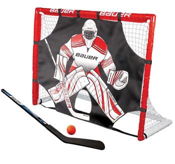 """Bauer Street Hockey Goal Set 48"""" incl. Shooter, Stick, Ball"""