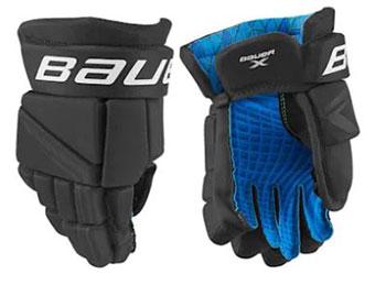 Bauer X handske Intermediate sort-hvid