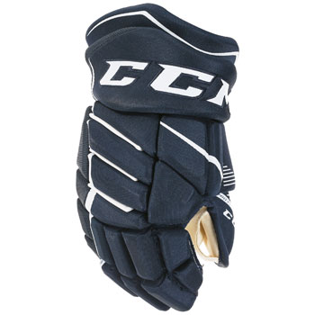 CCM Jetspeed FT370 gants Junior bleu marine-blanc