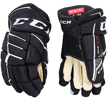 CCM Jetspeed FT370 gants Junior noir-blanc