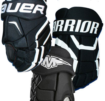 Eishockey Handschuh Restposten wahllos aus dem Regal Senior