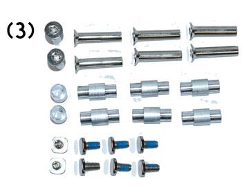 Ersatz Achsen / Schrauben 8er Set inkl. Spacer