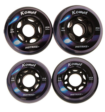 Instrike Komet 82A Outdoor Profi Wheel Set of 4 wheels outdo