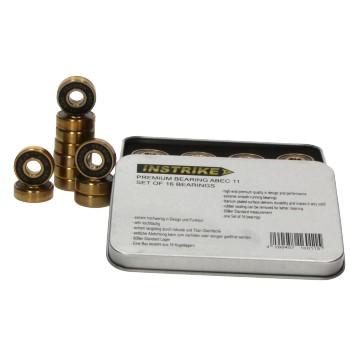 INSTRIKE Premium Skate Bearing Abec 11 Set of 16 bearings