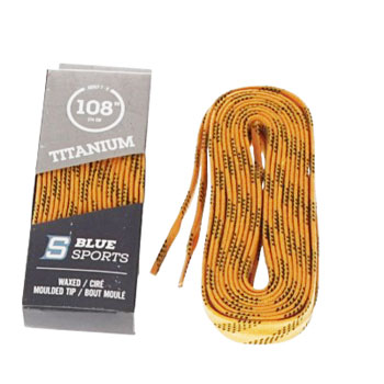 Laces waxed 274cm yellow