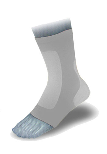 Ortema X-Foot padded sock front and back onesize (SINGLE)