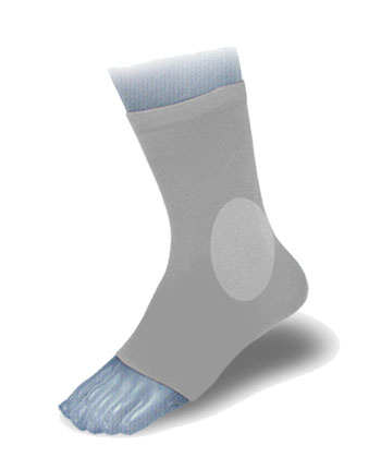Ortema X-Foot padded Socks inside and outside onesize SINGLE