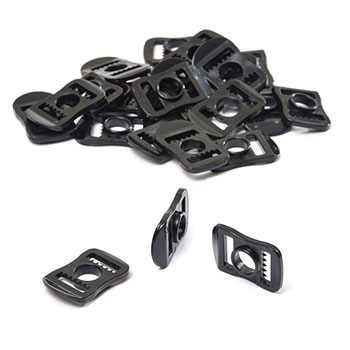 Plastic Buckle for your visor, cage and chin strap (2 pieces