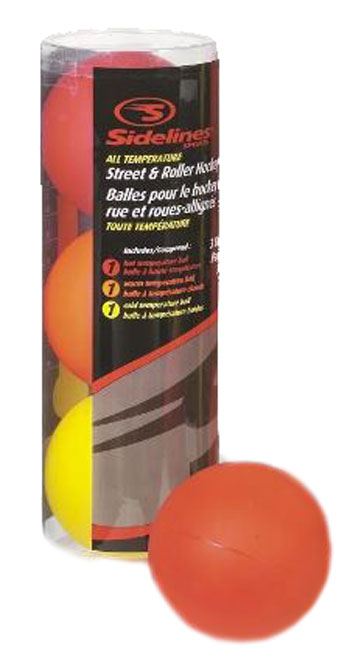 Sidelines Inline-Hockeyball Multi Temp - Set of 3
