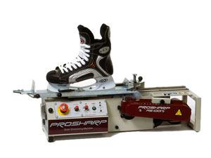 Skojtslibning med maskine til et par is