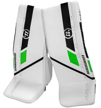 Warrior Ritual G5 goalie pad Bambini white-black-green