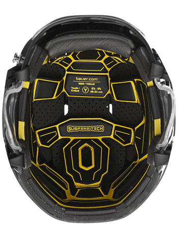 Bauer RE-AKT 100 Youth Helmet Combo incl. Cage black (3)