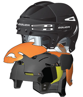 Bauer RE-AKT 75 Hockey Helmet black (3)