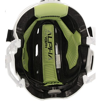 Warrior Alpha One Helmet Combo Youth white incl. cage (3)