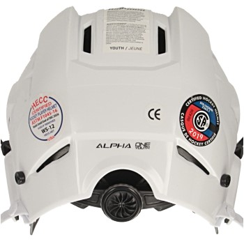 Warrior Alpha One Helmet Combo Youth white incl. cage (2)