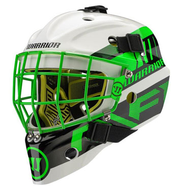 Warrior Ritual F1 Bambini Goalie Mask Neon/Green/White (2)