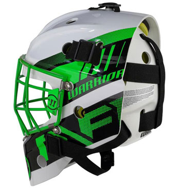 Warrior Ritual F1 Bambini Goalie Mask Neon/Green/White (4)
